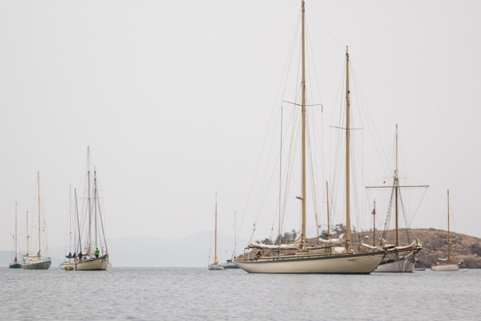 wooden boats on way to Port Townsend