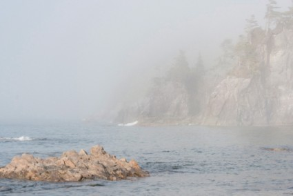 fog in Barkley Sound