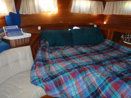 Our boat has two separate cabins. We generally use the aft cabin for ...