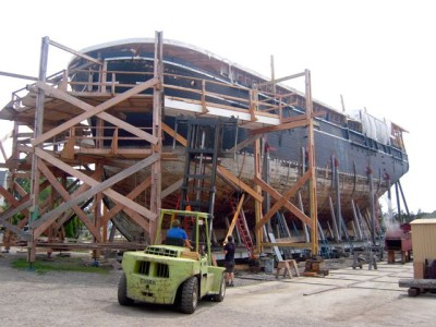 The Charles Morgan is the Only surviving wooden Whaling ship in the world.