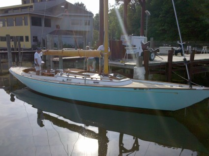"... on ""Chill"" a Hinckley 42' daysailer with a designated port of Key West."