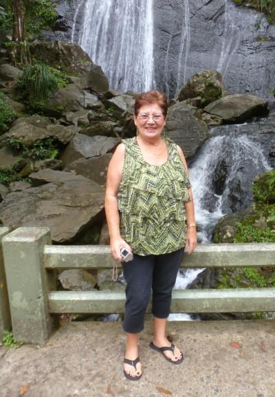Aunt Gail at El Yunque Rainforest