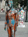 In one of the main avenues in Porto a large number (circa one-hundred) resin castings of human forms have been decorated by different artists. Each one conveying an alternative impression.