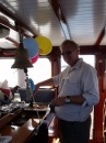 Our first onboard party! Aboard the German yacht Heimkehr. Marlene
