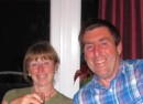 Andy & Welly at the farewell dinner they preapred using many home grown vegetables