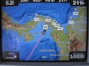 Showing our route away from Las Perlas Islands and Panama.