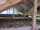 Copra drying hut.