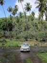 Our jeep for the day, one of the river crossings