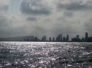 View as we approached the newer part of Cartagena from seaward.