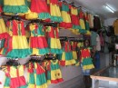 A shop selling dresses for the imminent Independence Day celebrations in early February...lots of national colours to brighten the island.