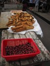 Nutmegs and Cinnamon bark at the market