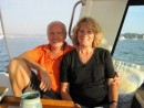 Peter and Raewyn aboard Saliander. They will be slowly cruising across the Pacific to their home country, New Zealand.