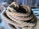 Coil of hemp or manilla rope