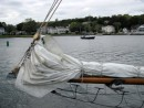 "Bowsprit and sail aboard ""Brilliant"""