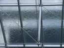 Not a piece of art but the rain pouring down onto the glass rooof at the art gallery