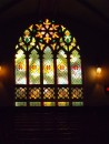 Stained glass window in the oldest United church in Montreal