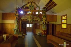 Inside the church at  Friendly Cove