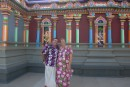 Andy and Sue dressed in appropriate attire to visit the Hindu temple