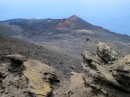 Lava field and volcanoin the south of La Palma. The newest here is only 40 years old.