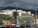 Stormy clouds brooding over the mountains of La Palma