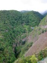 One of the steep sided gorges in La Palma