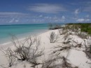 Looking North at Low Bay on the West coast of Barbuda.