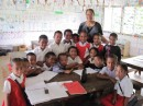 Italiana with her class at Nomuka government primary school