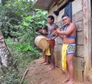 The so.und of traditional music greets us