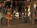 Traditional dancing led by a drum to keep the beat.