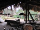 The cooking fire in the main meeting hut.