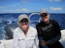 Kathy  and Sue on Whale watching trip.