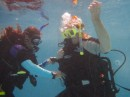 Drills and skills on scuba course
