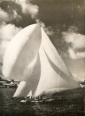 An old photograph of a Bermudian 14 - modern versions of these over-canvased beasts are still sailed in Bermuda today.