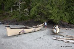 Traditional canoes