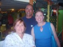 Tracy, Menno and Dixie at the Dinghy Dock Restaurant