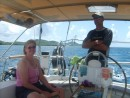 Sailing  to Isla Luis Pena