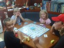 Valerie, Annie, Daniel and John playing Chipo