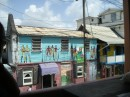 Painted building in Rousea, the capital of Dominica.JPG