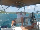 Paul enjoying the smooth sail over to Culebrita