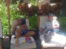 Menno and Don relaxing poolside