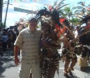 Don enjoying the 4th of July parade in Cruz Bay on St John