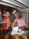 John and Dean celebrating the 4th- Love that shirt, Deano!