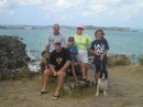 Fort Louis on the French side of St Martin with Johnny and Jeanette
