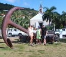 Photo op infront of the church-Gustavia, St Barts