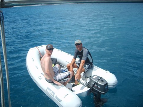 Menno and Mark going out for an afternoon snorkle