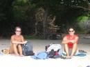 l Roxanne and Lisa enoying the beach.JPG