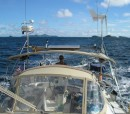 l Val enjoying a brisk sail to Union Island- making 7.5 knots- our bottom is clean with no growth.JPG