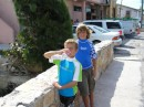 John and Daniel at the bridge in Georgetown.