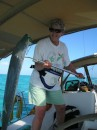 Jane caught a very large barracuda while crossing the Caicos Banks.