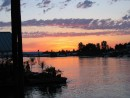 Sunset from our dock spot on the Columbia River